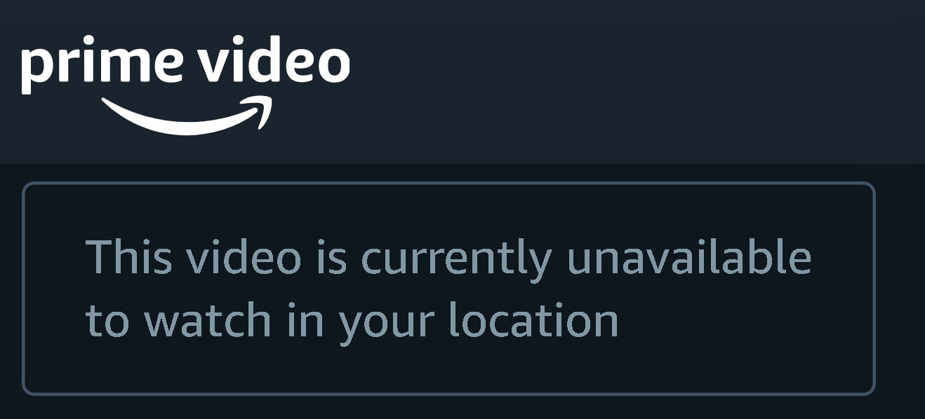 Error message: This video is currently unavailable to watch in your region.